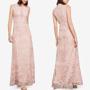Bcbgmaxazria lace pink NWT gown dress 0